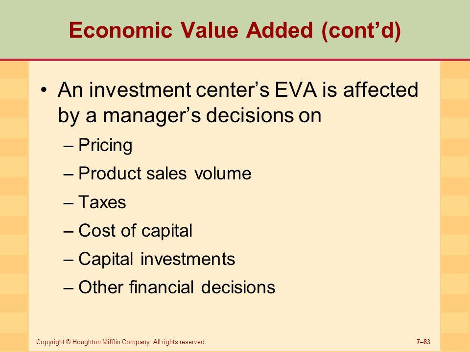 Economic Value Added (cont'd)