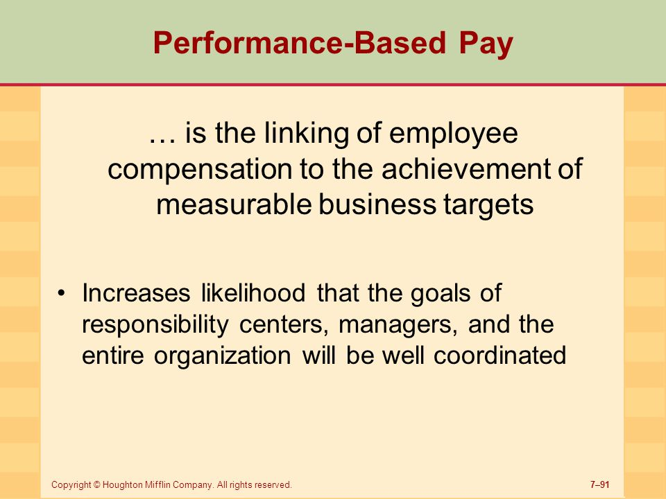 Performance-Based Pay