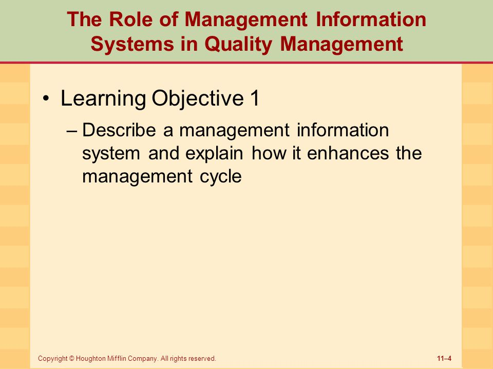 Management Information System: (Definition and Objectives)