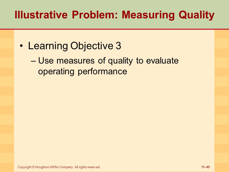 Illustrative Problem: Measuring Quality