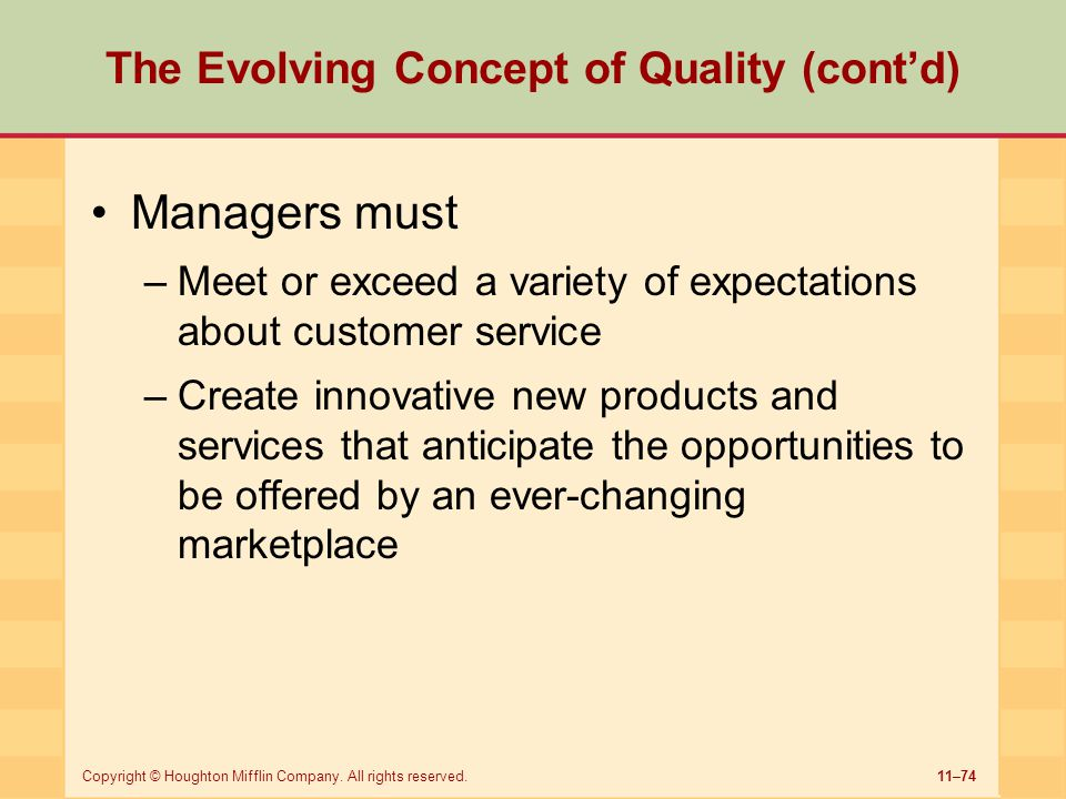 The Evolving Concept of Quality (cont'd)