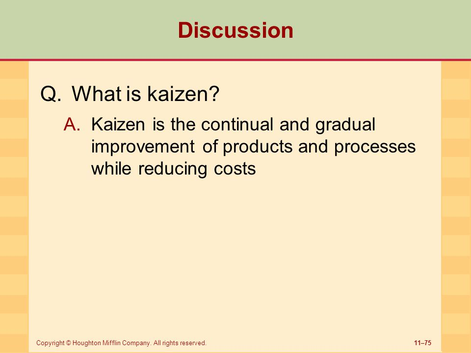 Discussion What is kaizen