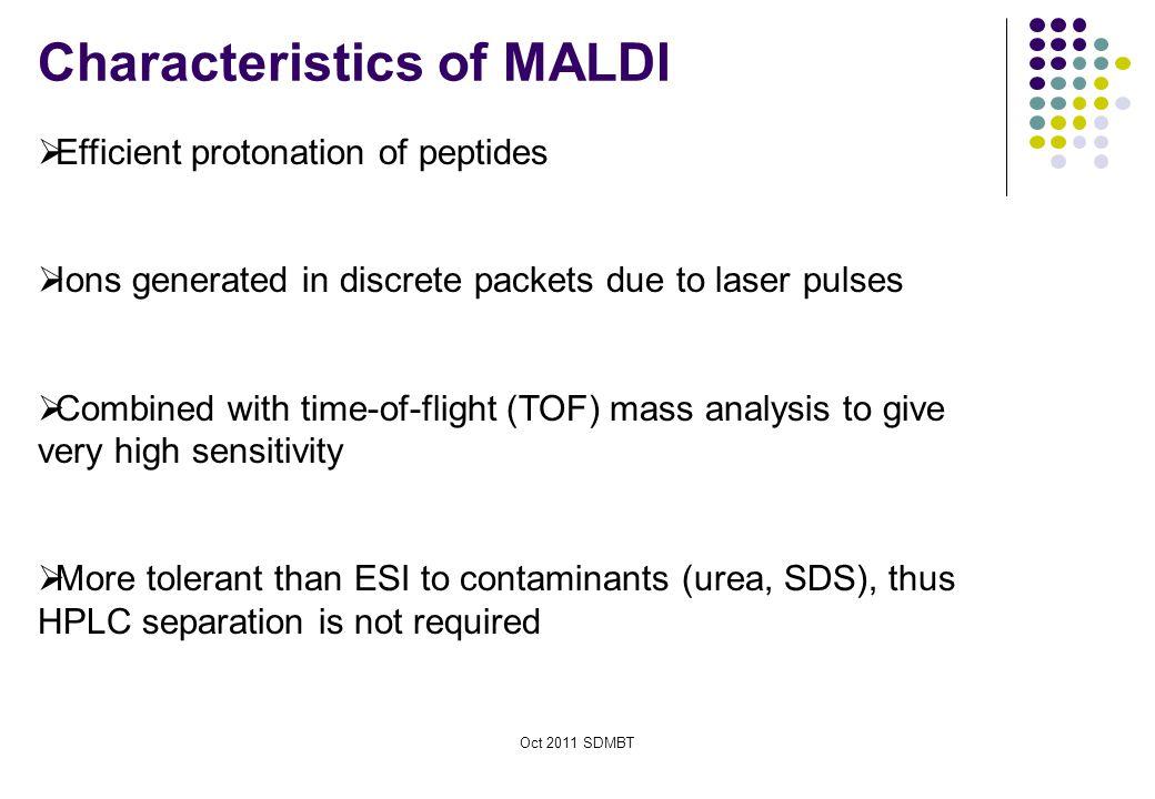 Characteristics of MALDI