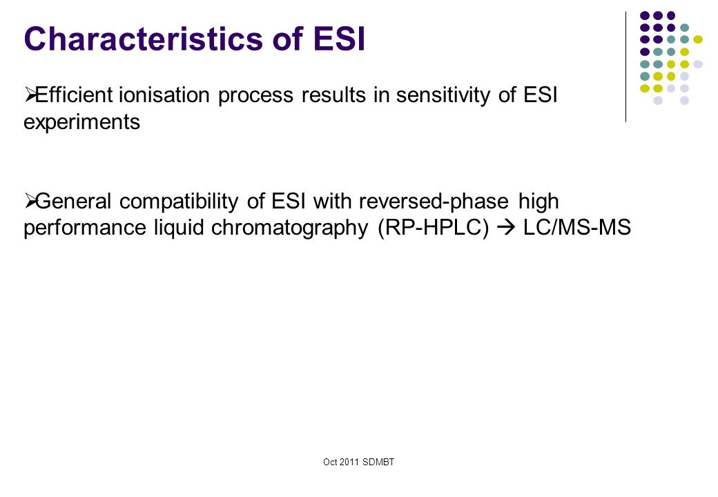 Characteristics of ESI