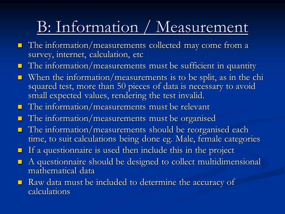 B: Information / Measurement