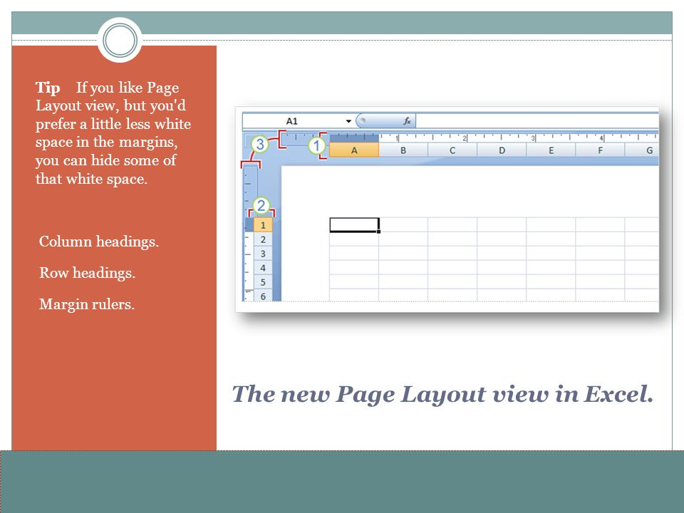 The new Page Layout view in Excel.