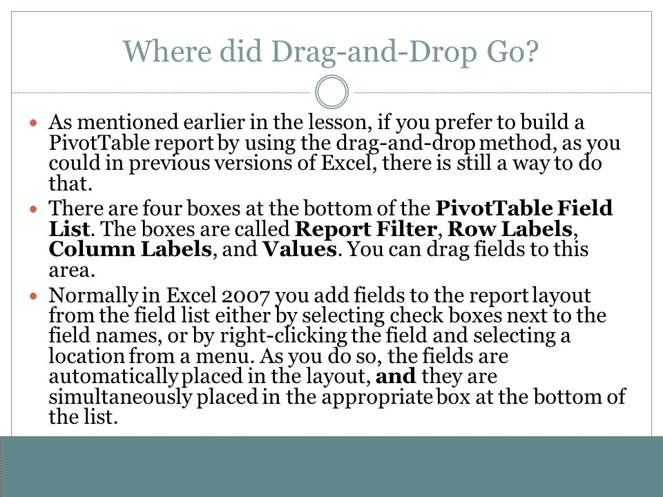 Where did Drag-and-Drop Go