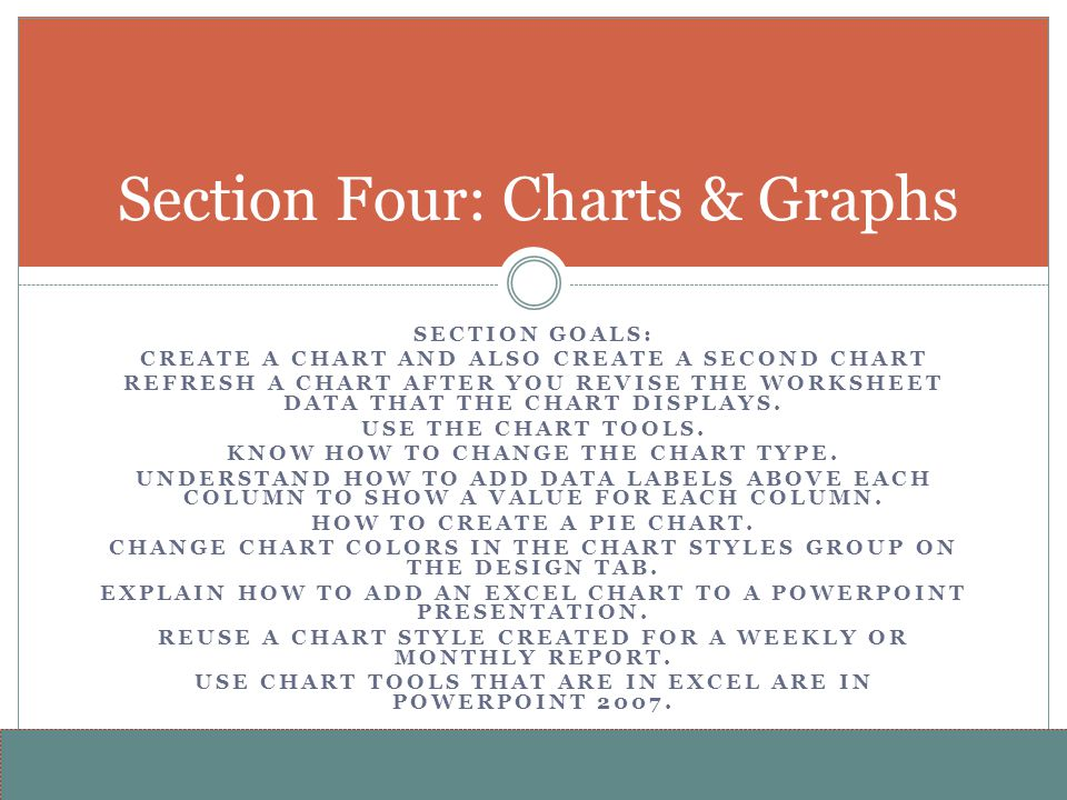 Section Four: Charts & Graphs