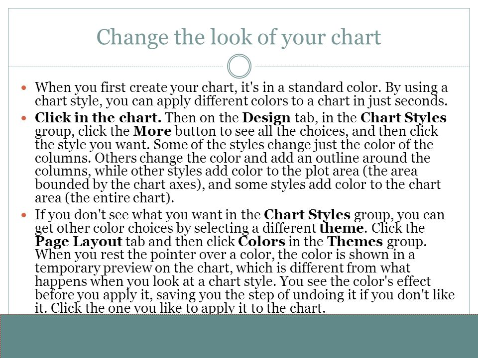 Change the look of your chart