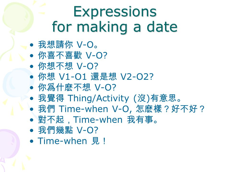 Expressions for making a date