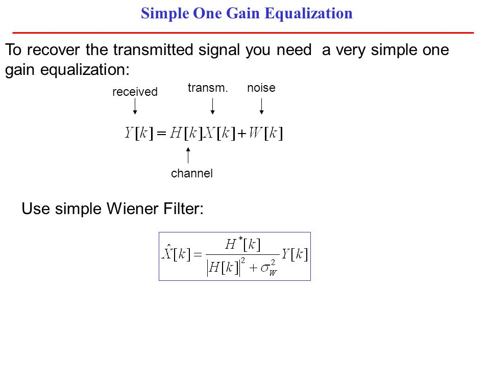 Simple One Gain Equalization