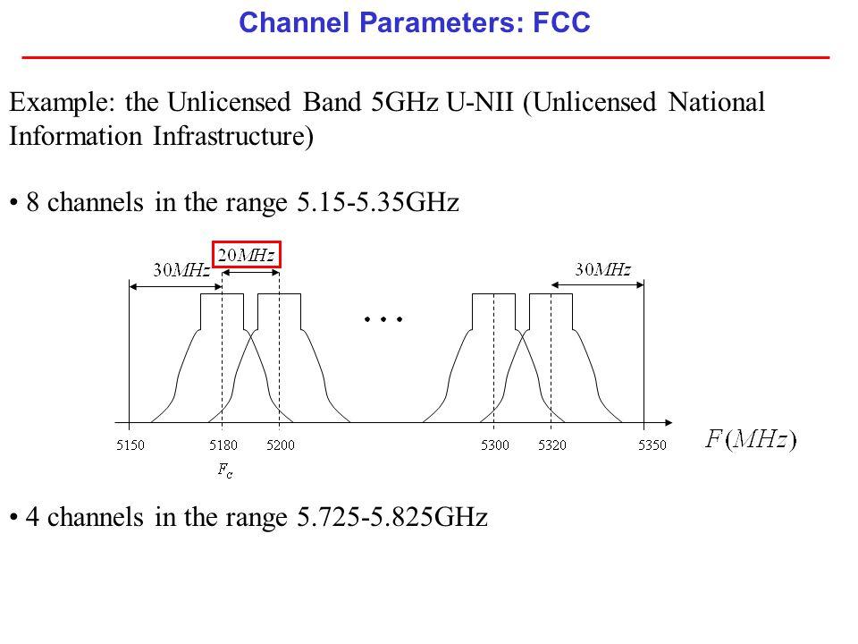 Channel Parameters: FCC