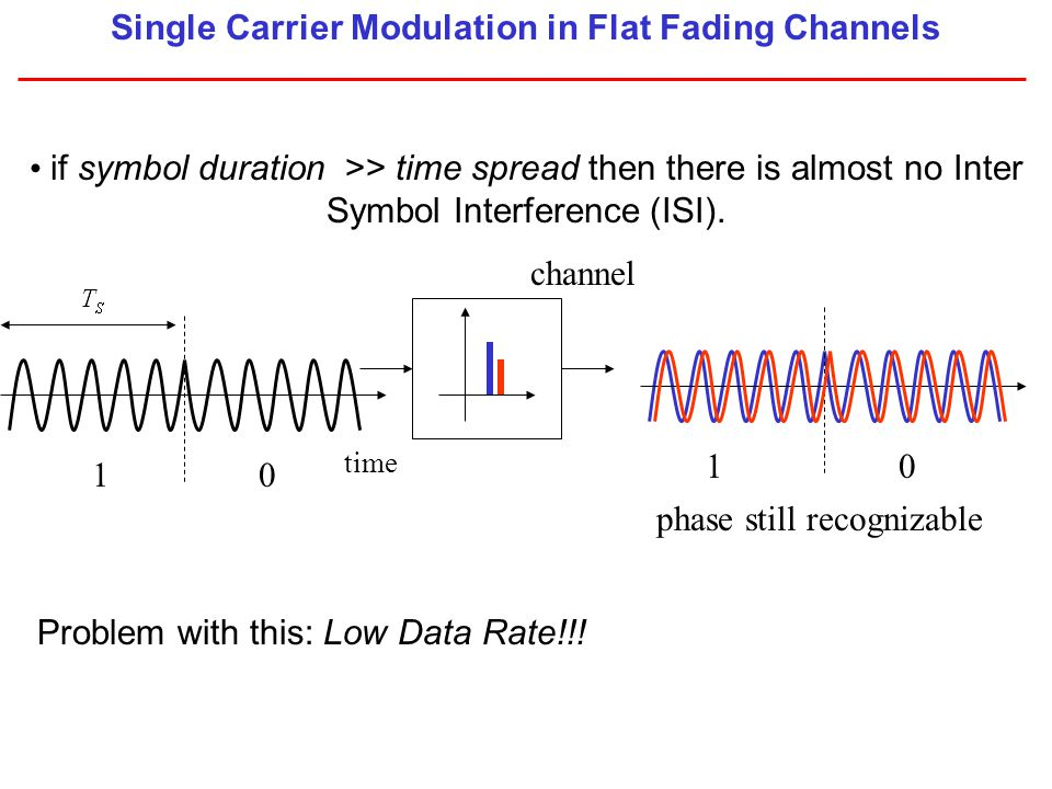 Single Carrier Modulation in Flat Fading Channels