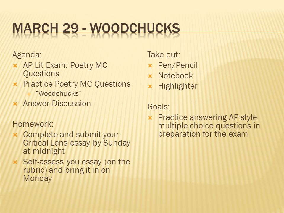 ap literature poem essay questions Compare contrast open essay guidelines dinner at the homesick restaurant poems 20 must-read poems for ap lit students top 10 american poems of the 20th century the woman question  20 must-read poems for ap lit students 1 my last duchess, robert browning 2.