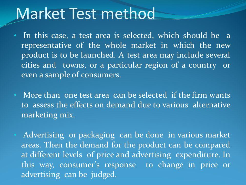 Market Test method
