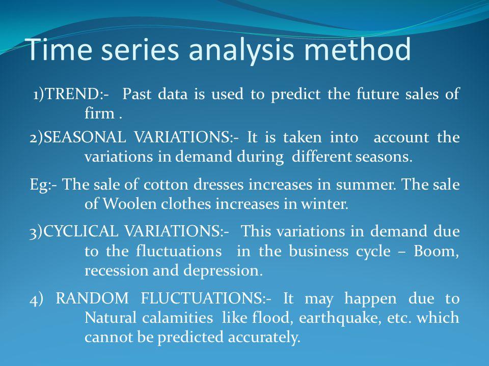 Time series analysis method
