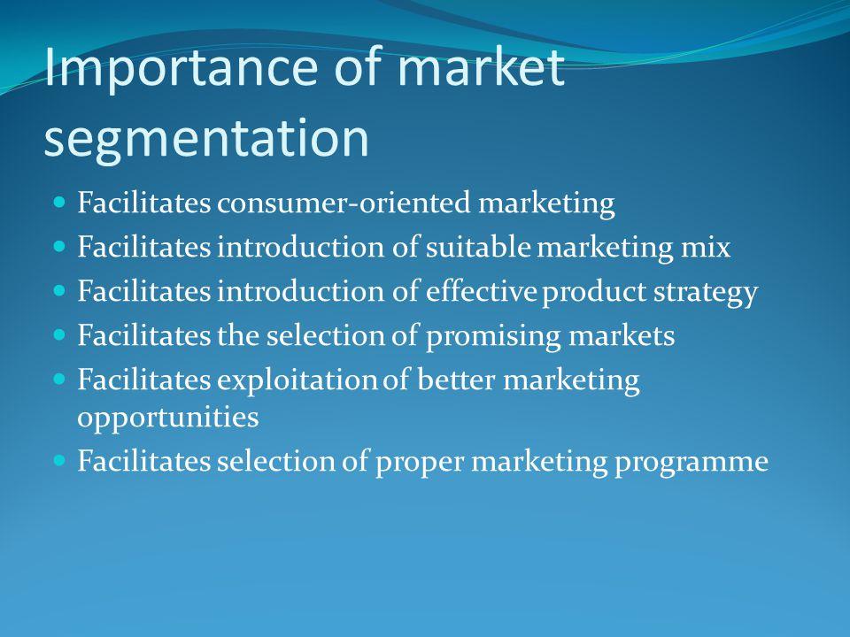 Importance of market segmentation