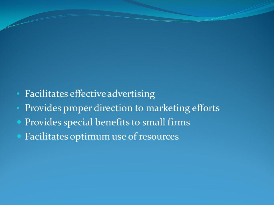 Facilitates effective advertising