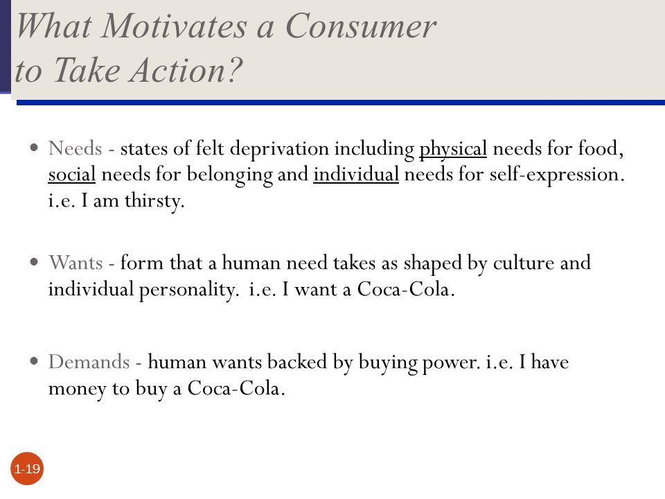 What Motivates a Consumer to Take Action
