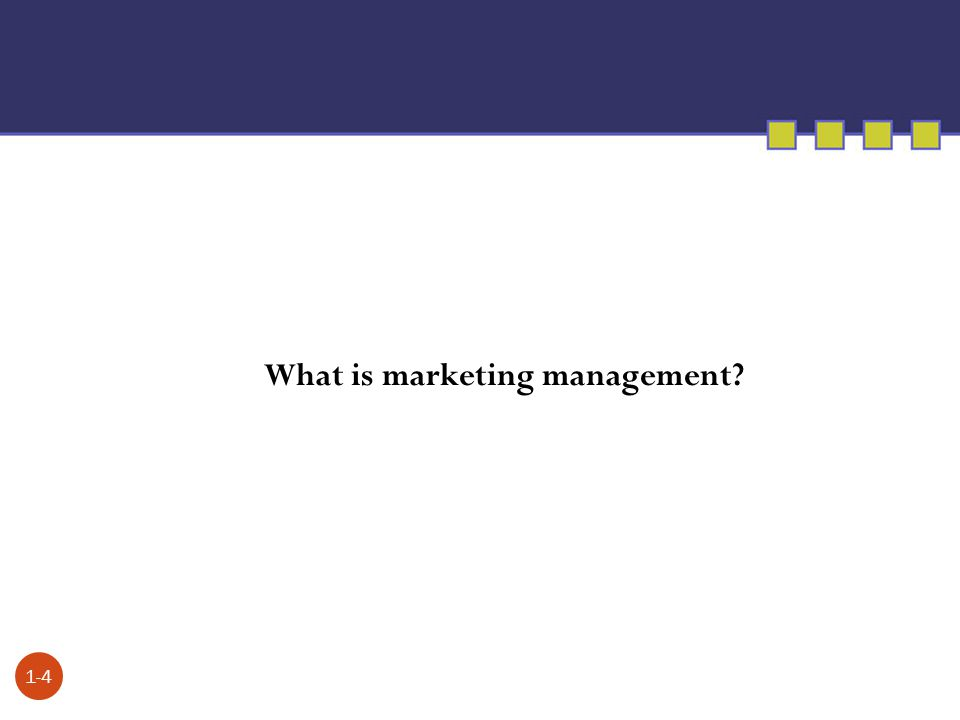 What is marketing management