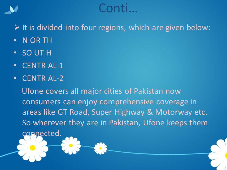 Conti… It is divided into four regions, which are given below: N OR TH