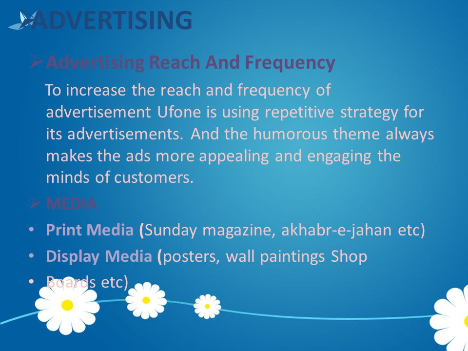ADVERTISING Advertising Reach And Frequency