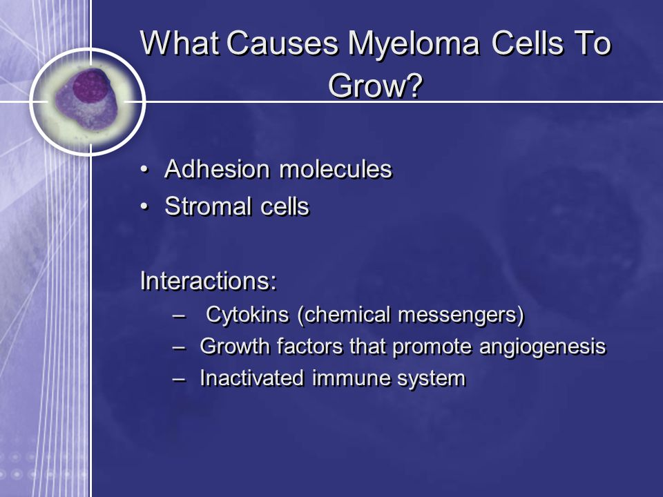 What Causes Myeloma Cells To Grow