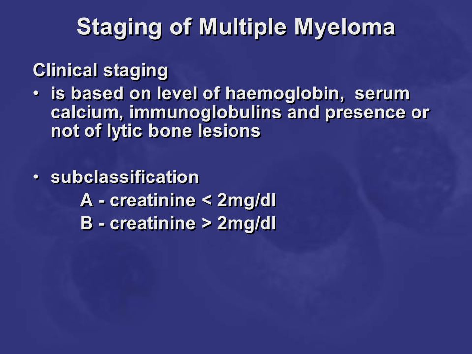 Staging of Multiple Myeloma