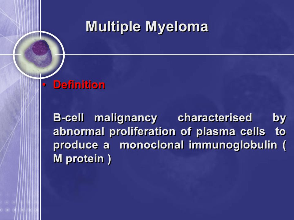 Multiple Myeloma Definition