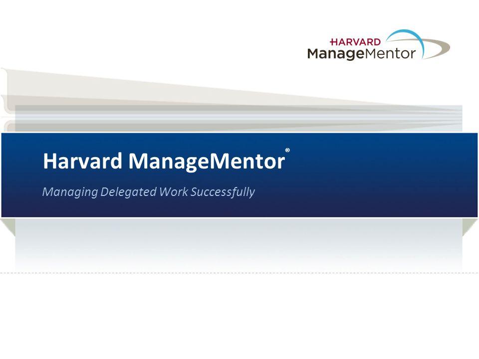 Harvard ManageMentor®