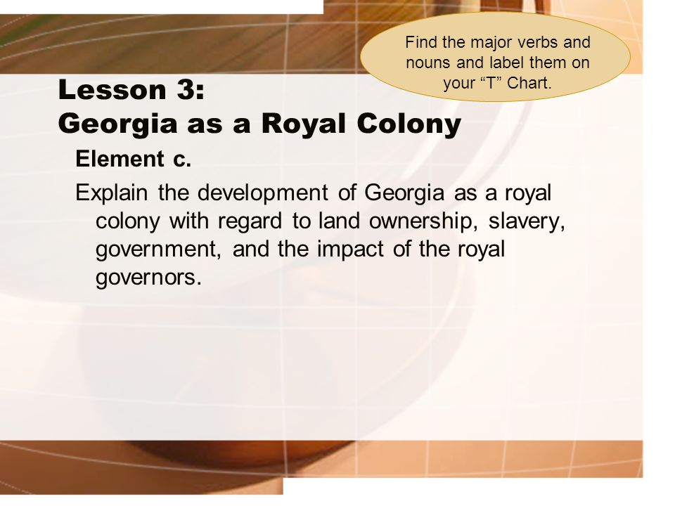 Lesson 3: Georgia as a Royal Colony