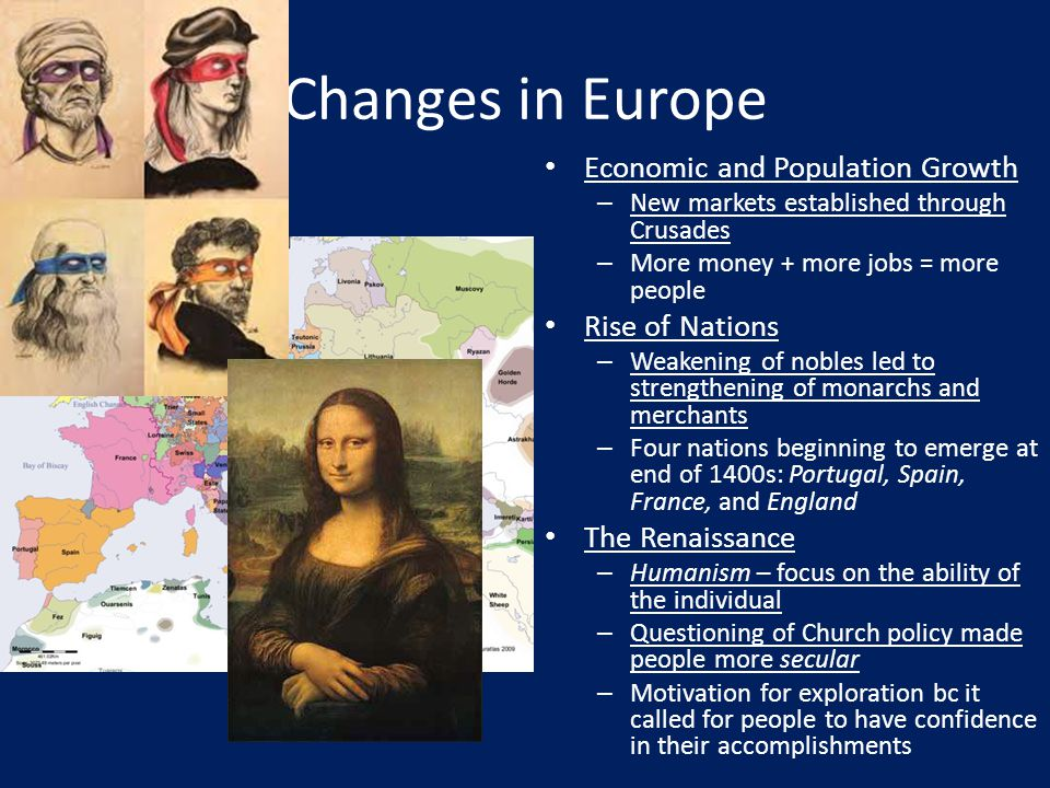 Changes in Europe Economic and Population Growth Rise of Nations