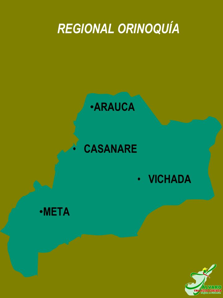 REGIONAL ORINOQUÍA ARAUCA CASANARE VICHADA META