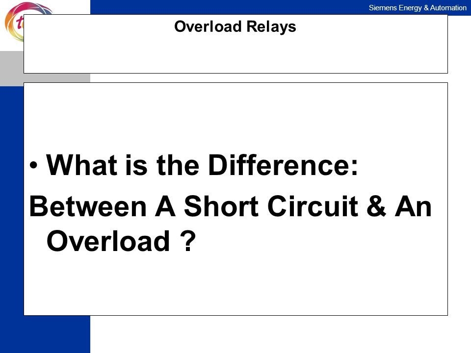 What is the Difference: Between A Short Circuit & An Overload