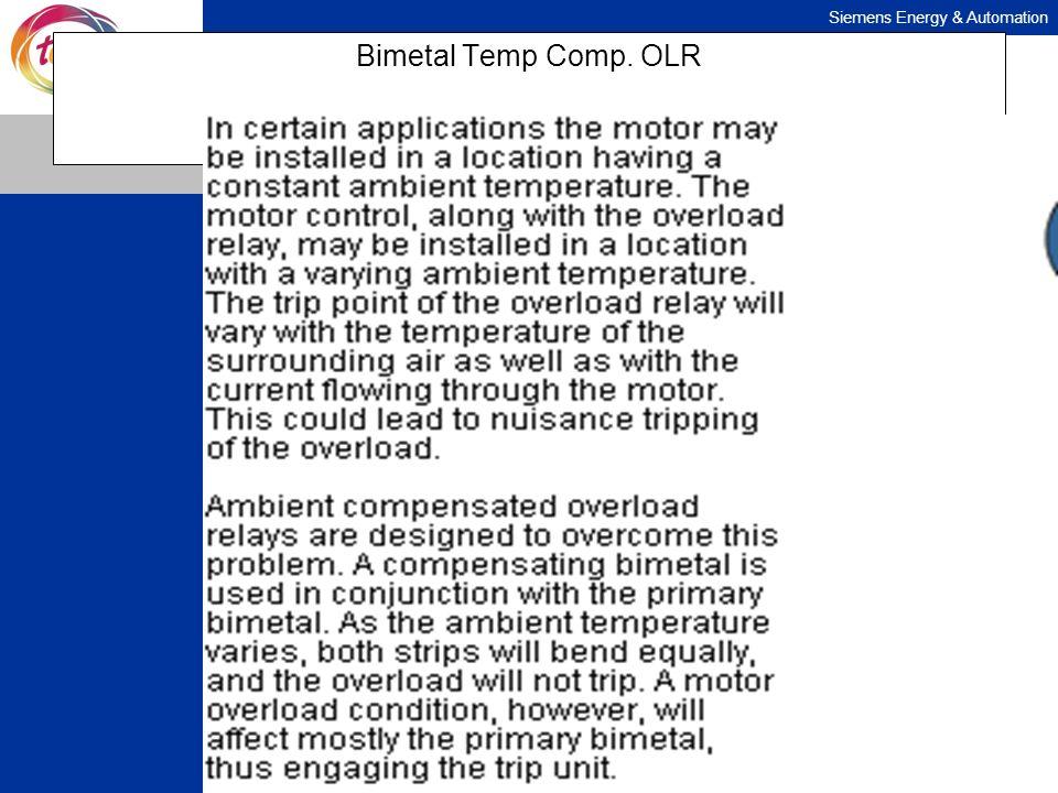 Bimetal Temp Comp. OLR