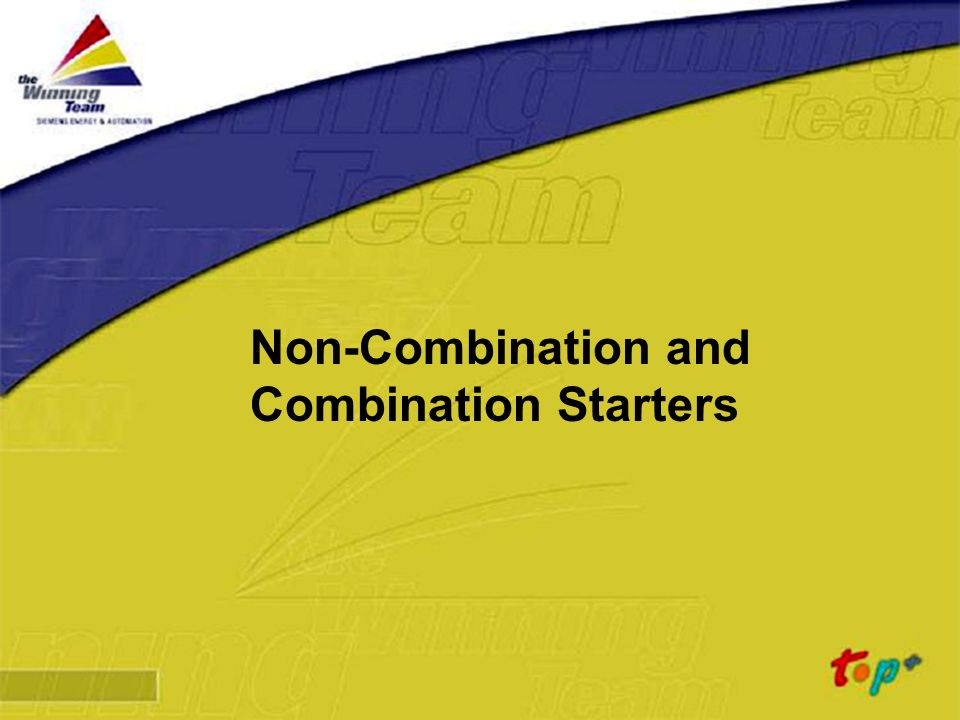 Non-Combination and Combination Starters