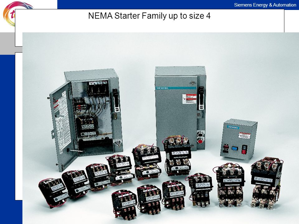 NEMA Starter Family up to size 4
