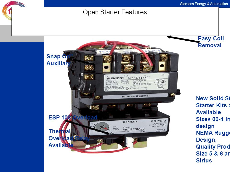 Open Starter Features Easy Coil Removal Snap On Auxiliary