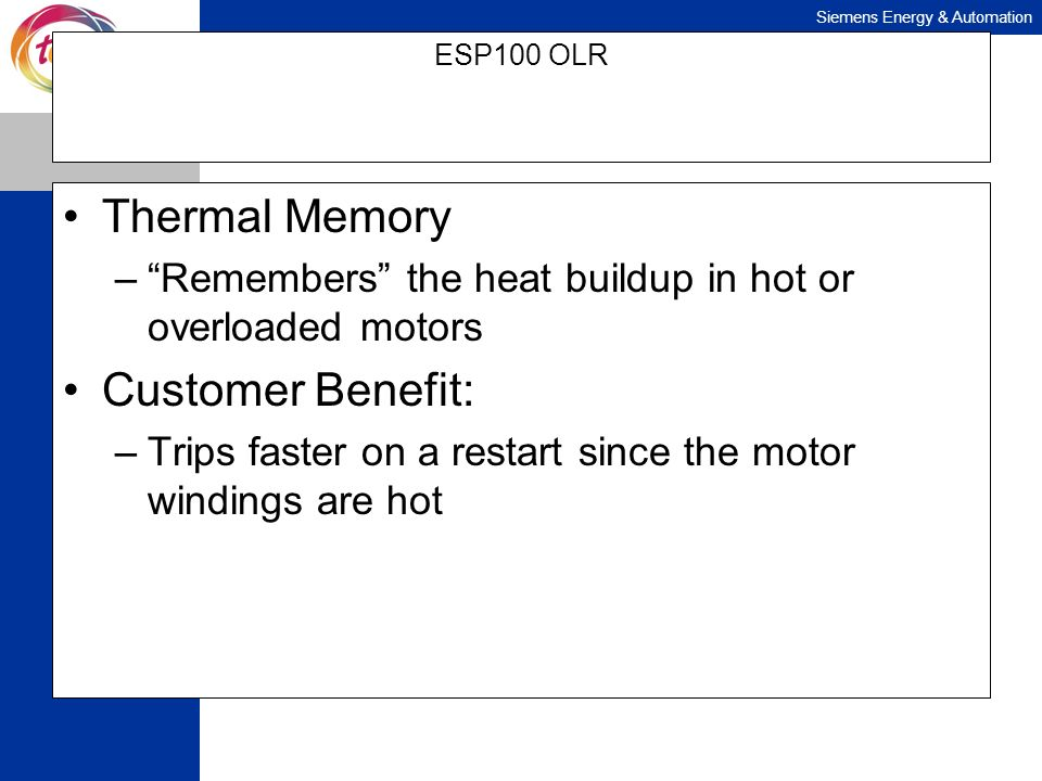 Thermal Memory Customer Benefit: