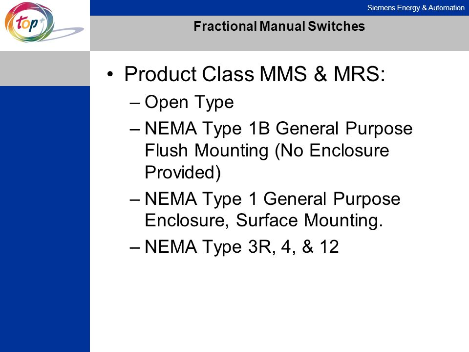 Fractional Manual Switches