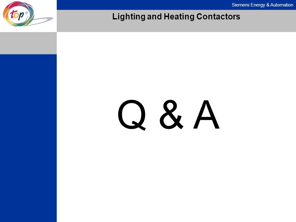 Lighting and Heating Contactors