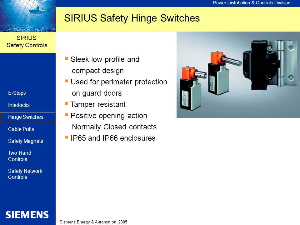 SIRIUS Safety Hinge Switches