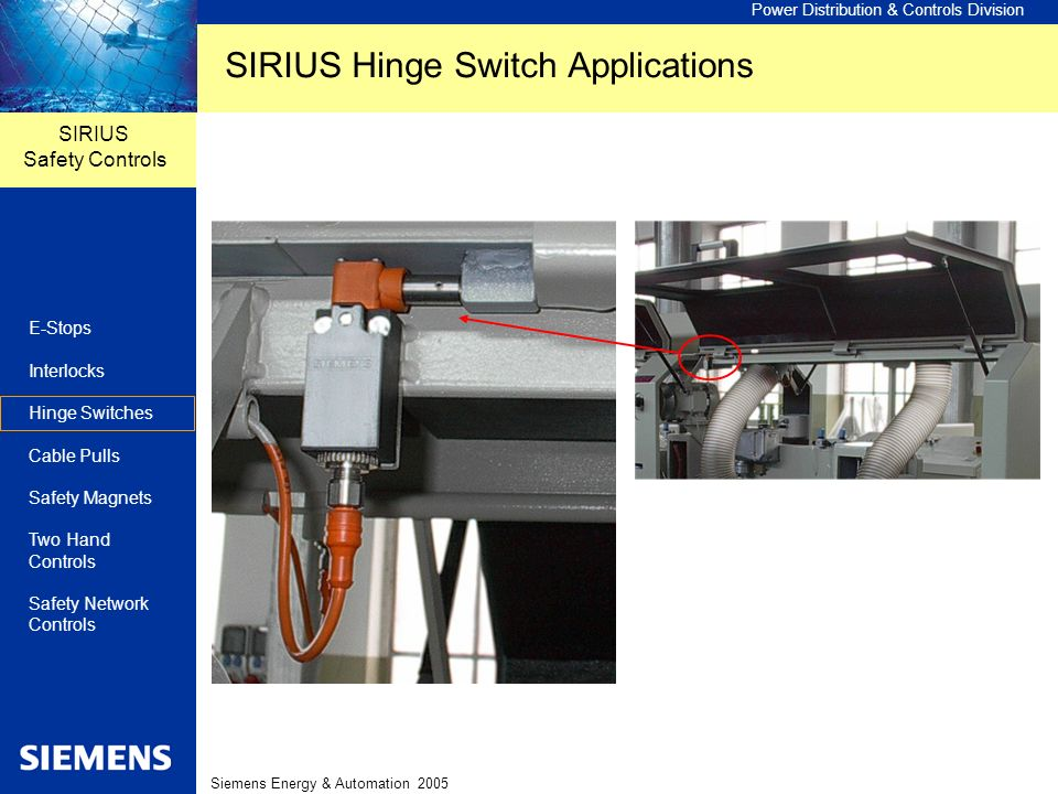 SIRIUS Hinge Switch Applications