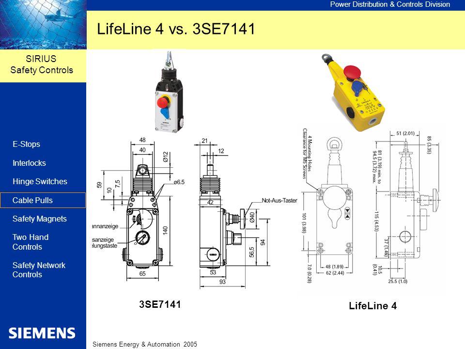 LifeLine 4 vs. 3SE7141 3SE7141 LifeLine 4