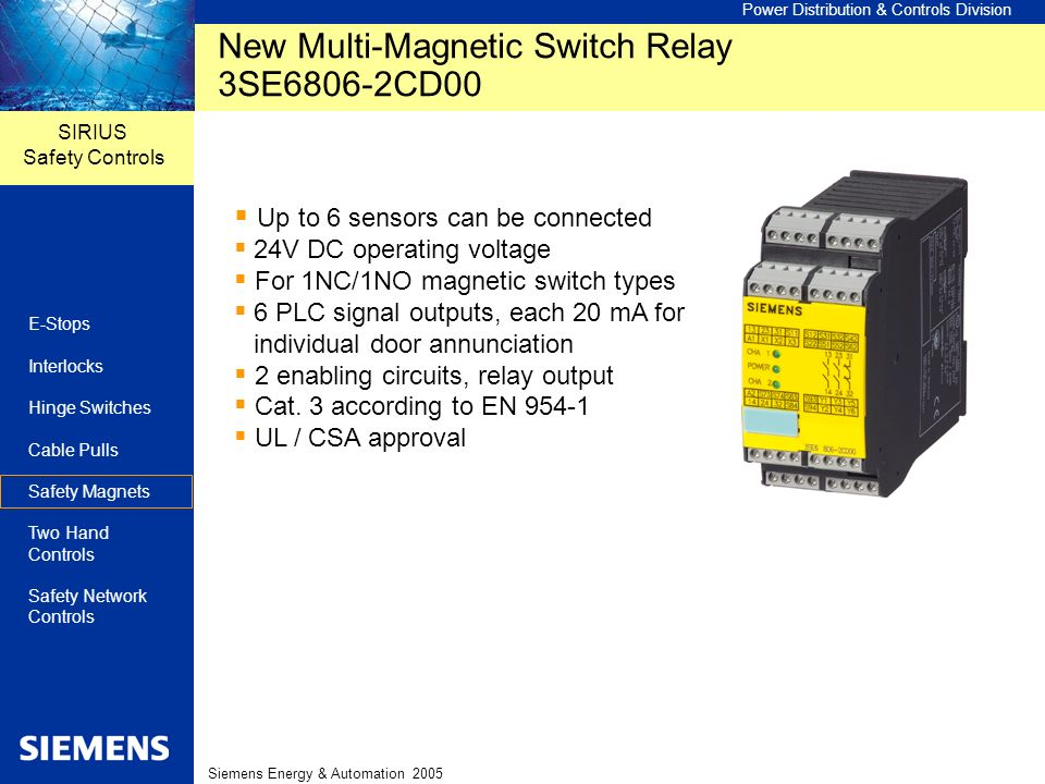 New Multi-Magnetic Switch Relay 3SE6806-2CD00