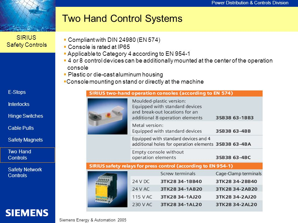 Two Hand Control Systems
