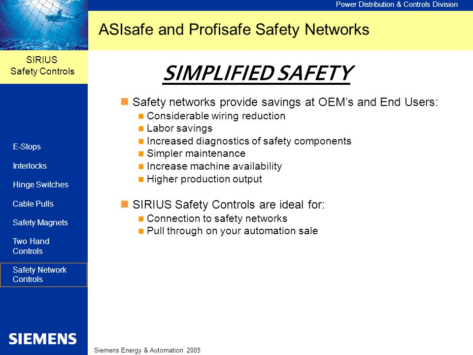 ASIsafe and Profisafe Safety Networks