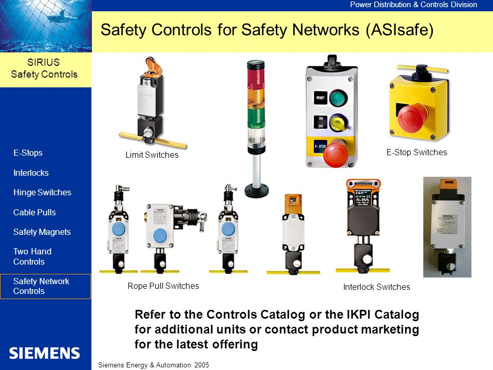 Safety Controls for Safety Networks (ASIsafe)