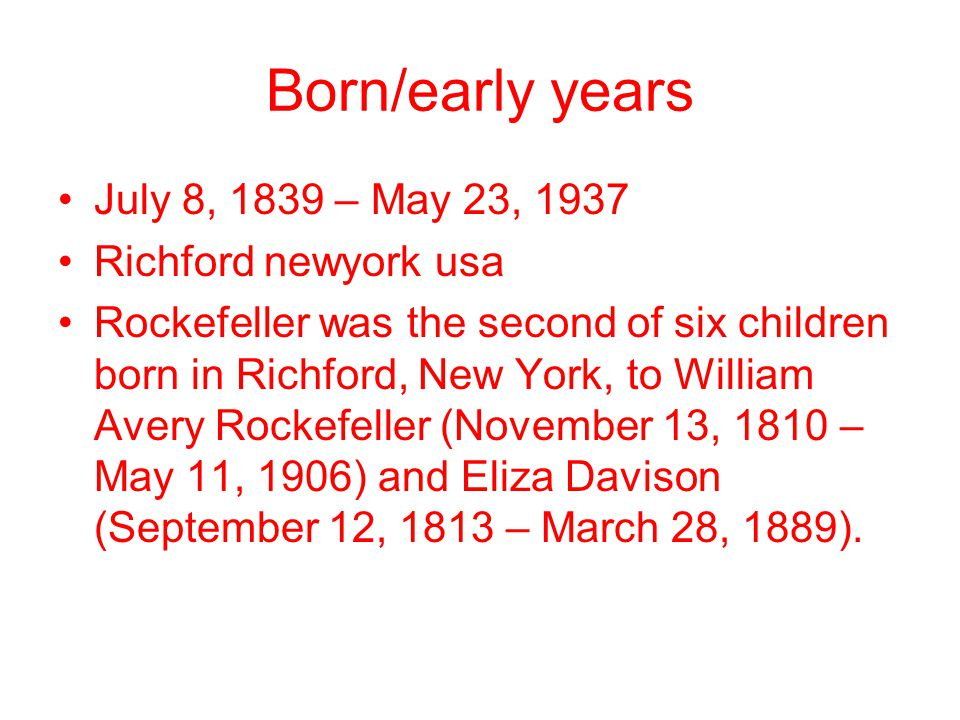 Born/early years July 8, 1839 – May 23, 1937 Richford newyork usa