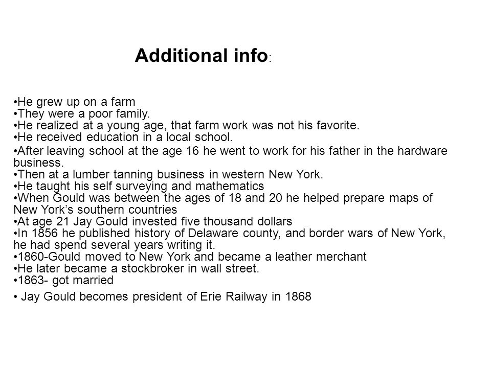 Additional info: He grew up on a farm They were a poor family.